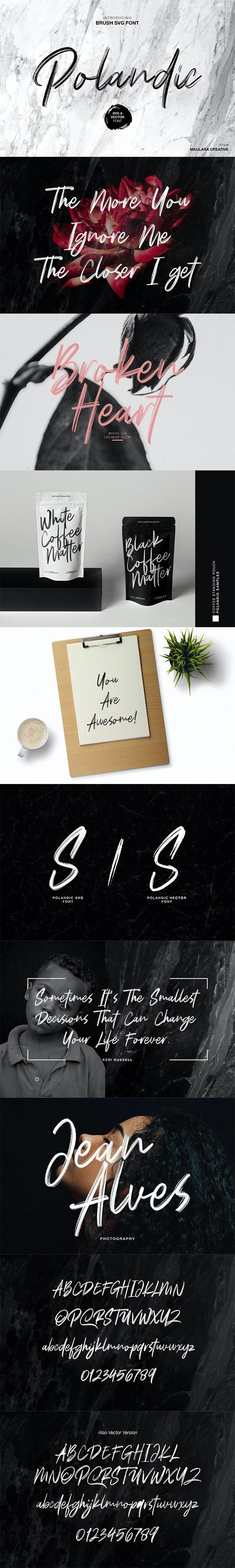Polandic SVG Brush Font - Hand-writing Script