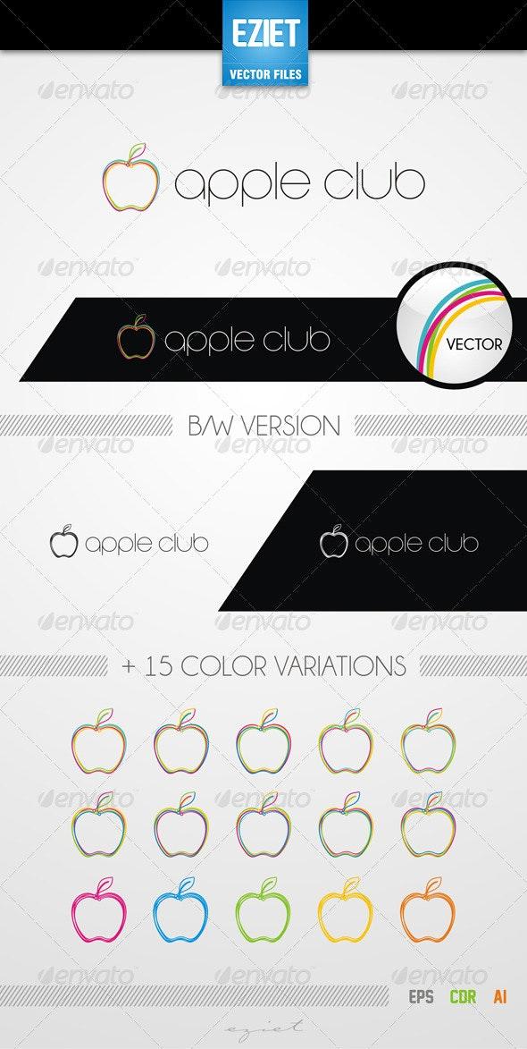 Apple Club Logo - Food Logo Templates