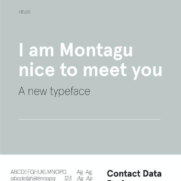 Montagu Sans Font
