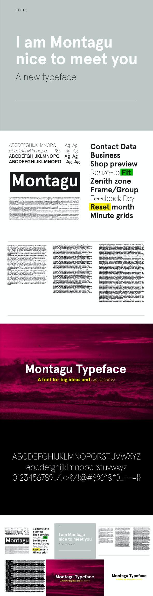 Montagu Sans Font - Sans-Serif Fonts
