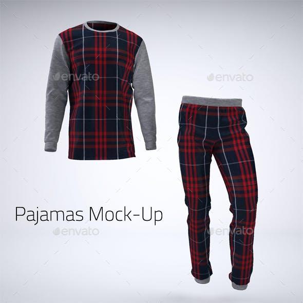 Pajamas or Pyjamas Mock-Up