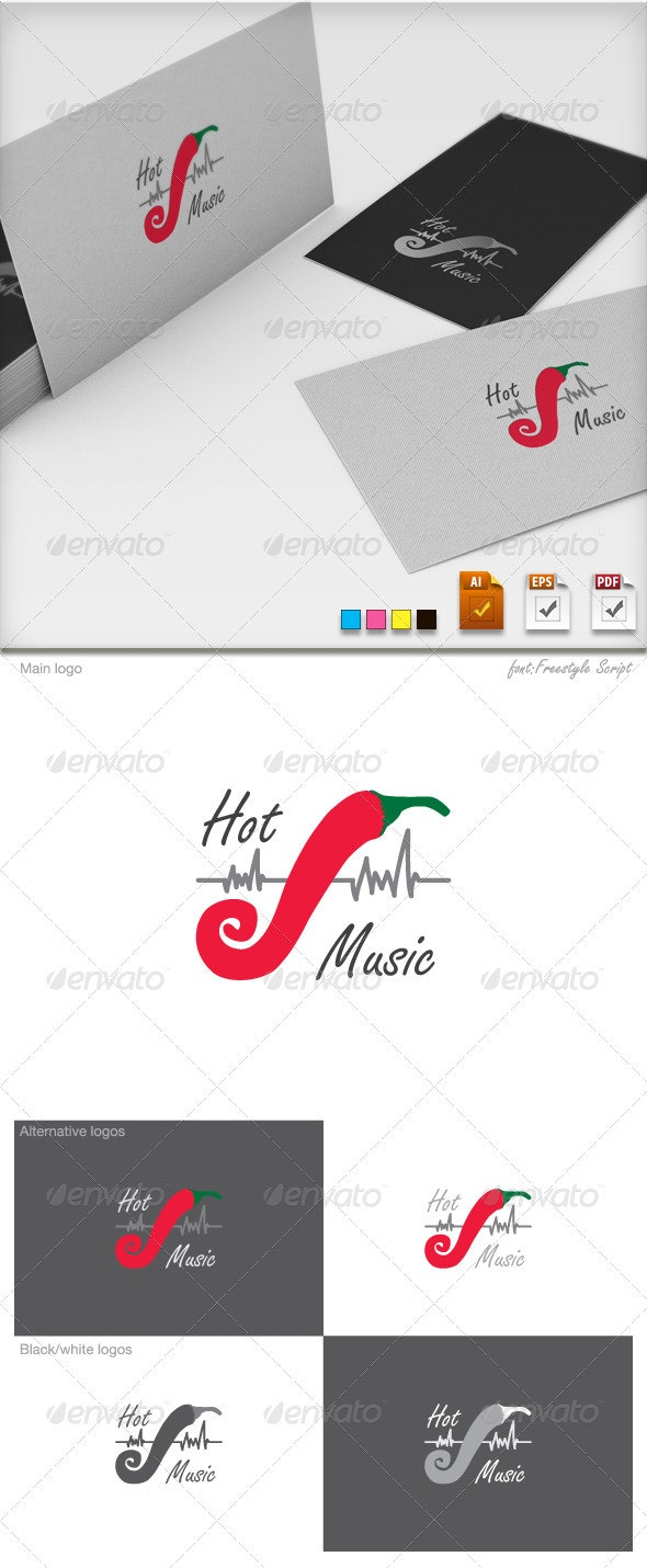 Hot Music Logo Template - Objects Logo Templates