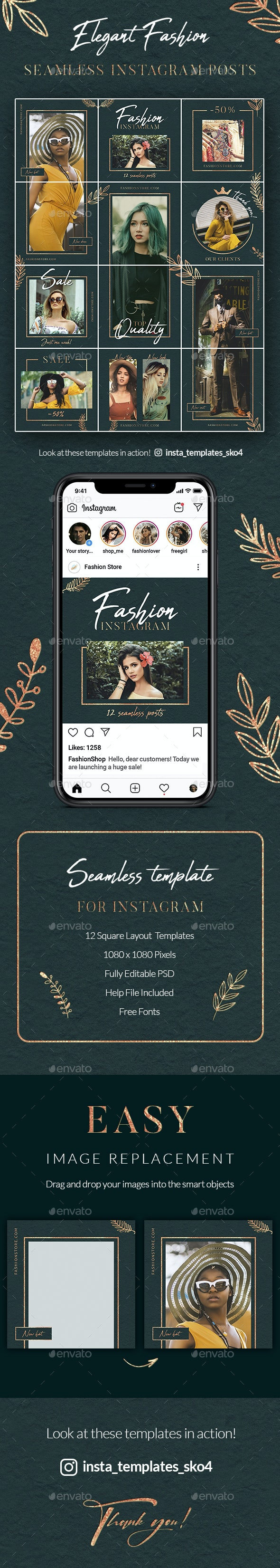 Elegant Fashion – Instagram Puzzle - Miscellaneous Social Media