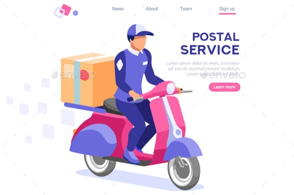 Mailing Page Web Postal Website - Services Commercial / Shopping