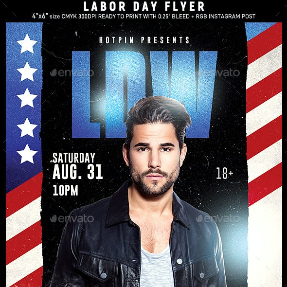 Labor Day Dj Flyer