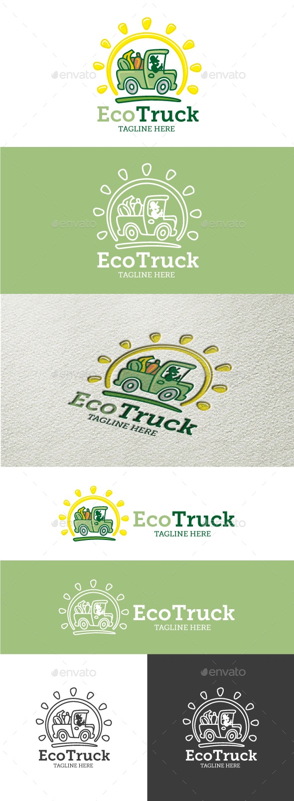 Eco Truck - Food Logo Templates