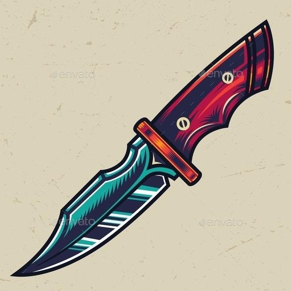 Colorful Knife - Miscellaneous Vectors