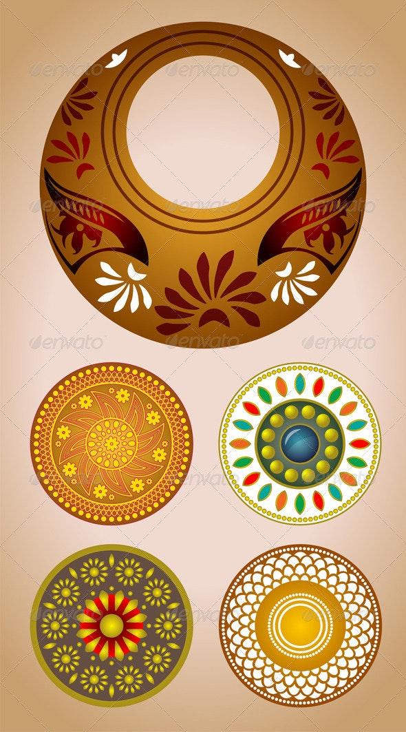 Ornament set - Decorative Vectors