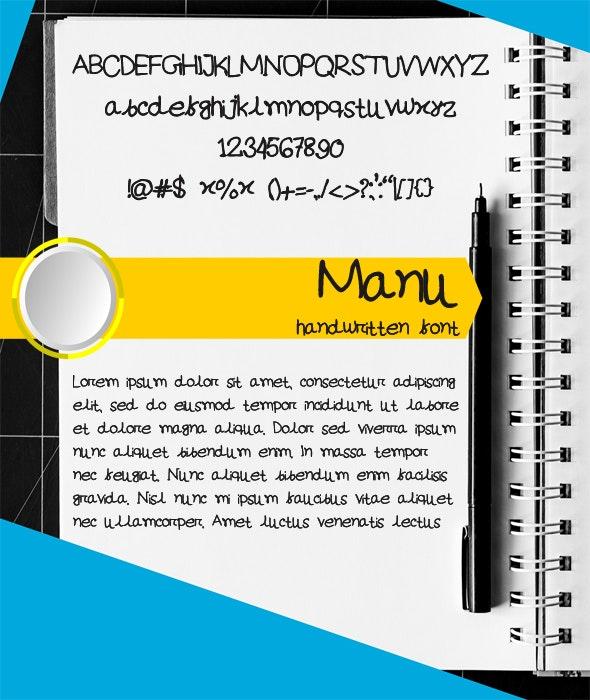 Manu - Stylish Handwritten Font - Handwriting Fonts