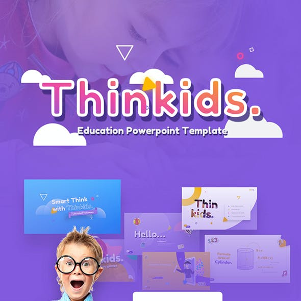 Thinkids - Fun Games & Education PowerPoint Template