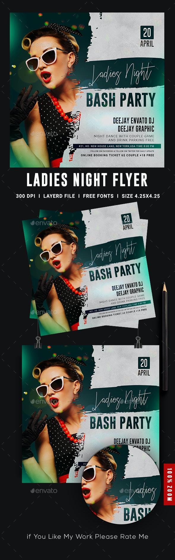 Ladies Night Club Party Flyer - Events Flyers