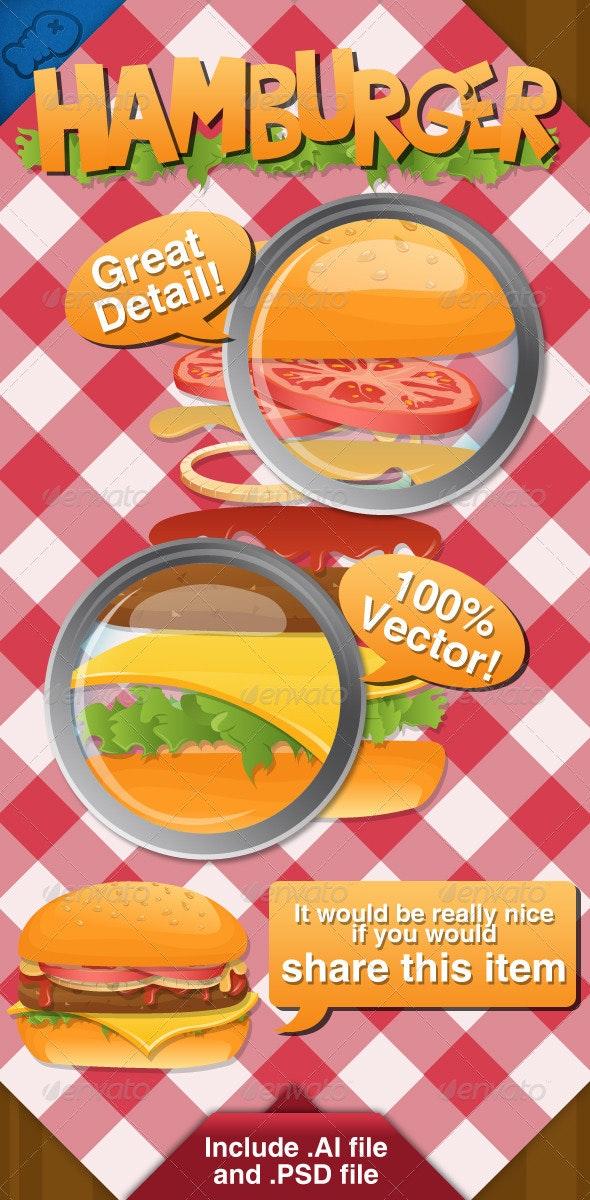 Hamburger Vector - Food Objects