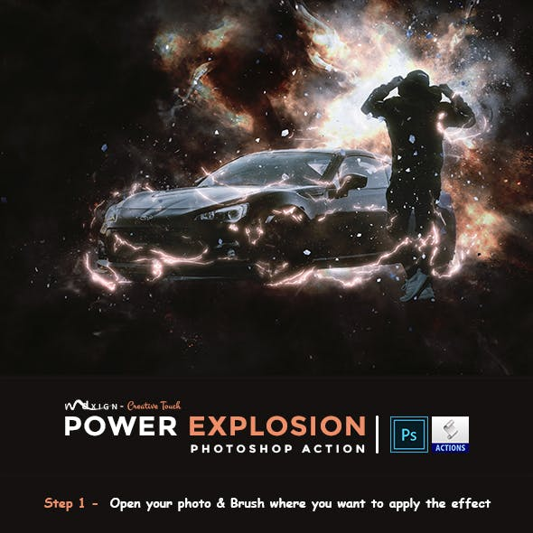 Power Explosion Photoshop Action