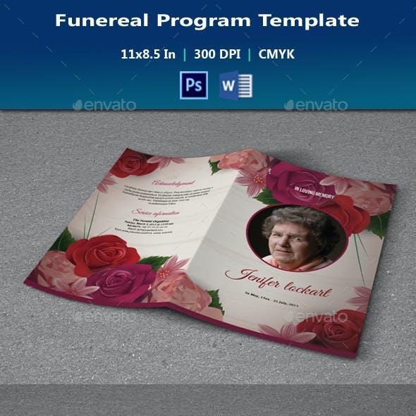 Funeral Template & Bookmark