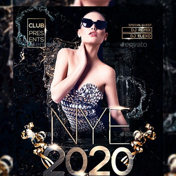 New Year Party 2020 Flyer
