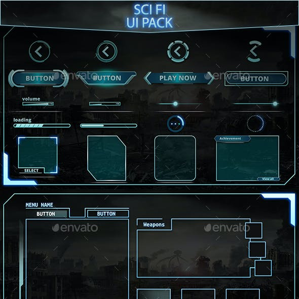 Sci Fi UI Components