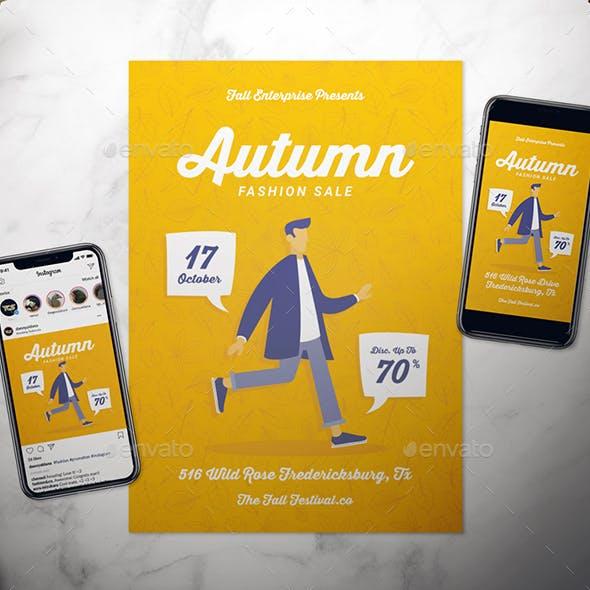 Autumn Fashion Flyer Set