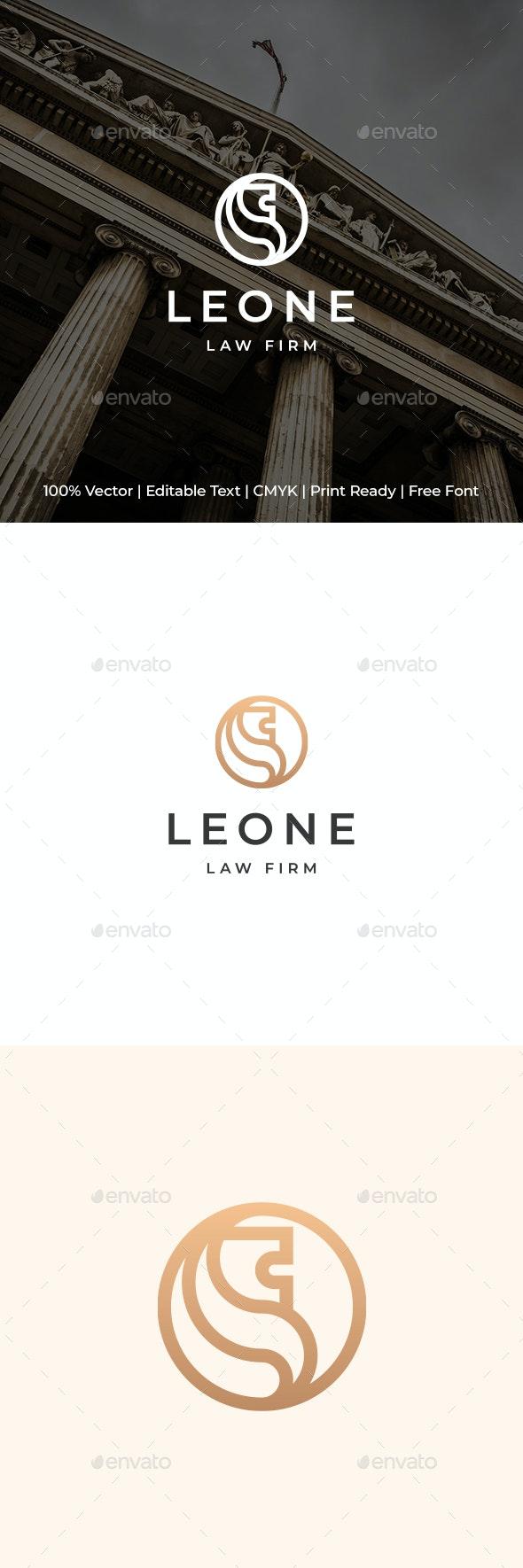 Lion Monogram Logo - Animals Logo Templates