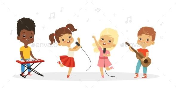 Singing Kids Children Choir - People Characters