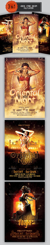 Oriental Flyer Bundle - Clubs & Parties Events