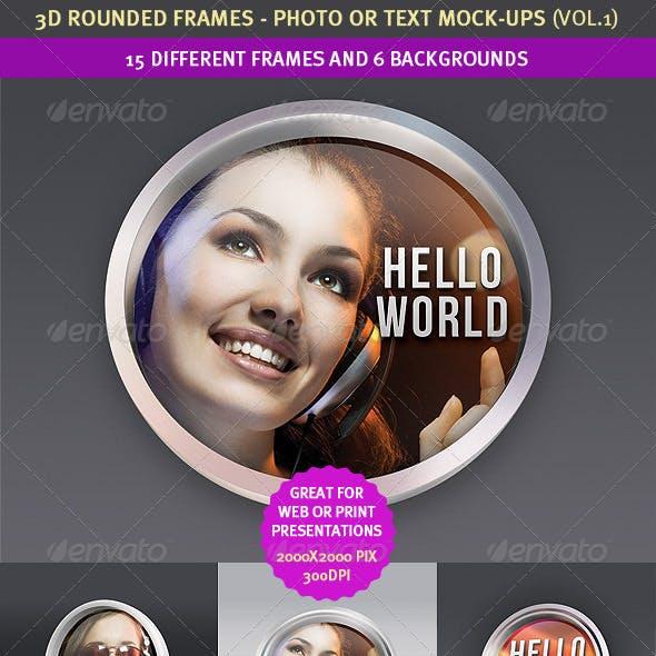 15 Rounded 3D Frame Mock-Ups