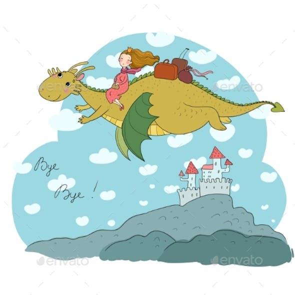 The Princess Flying on a Dragon