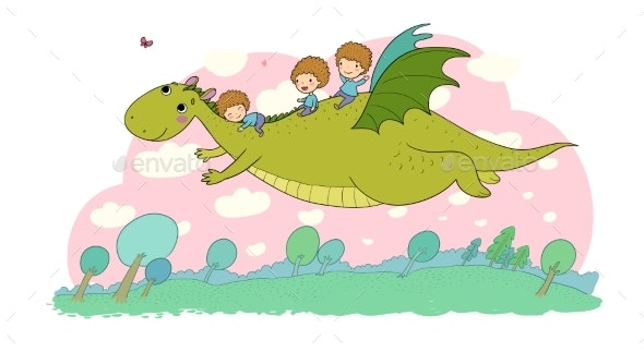 The Boys and the Dinosaur - Animals Characters