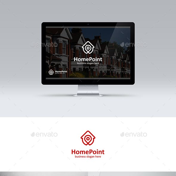 Home Point House Locator Logo Template