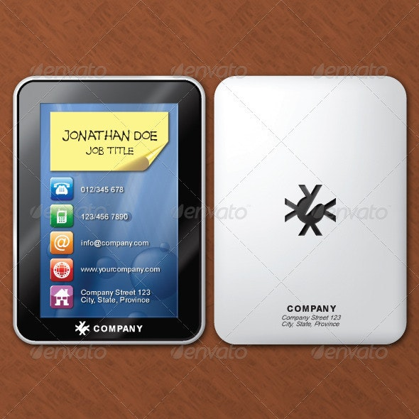 Tablet Business Card - Real Objects Business Cards