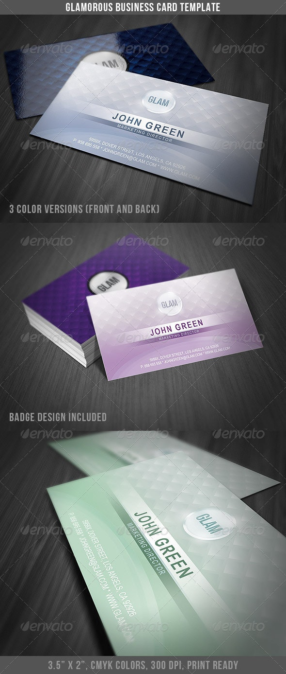 Glamorous Business Card Template - Business Cards Print Templates