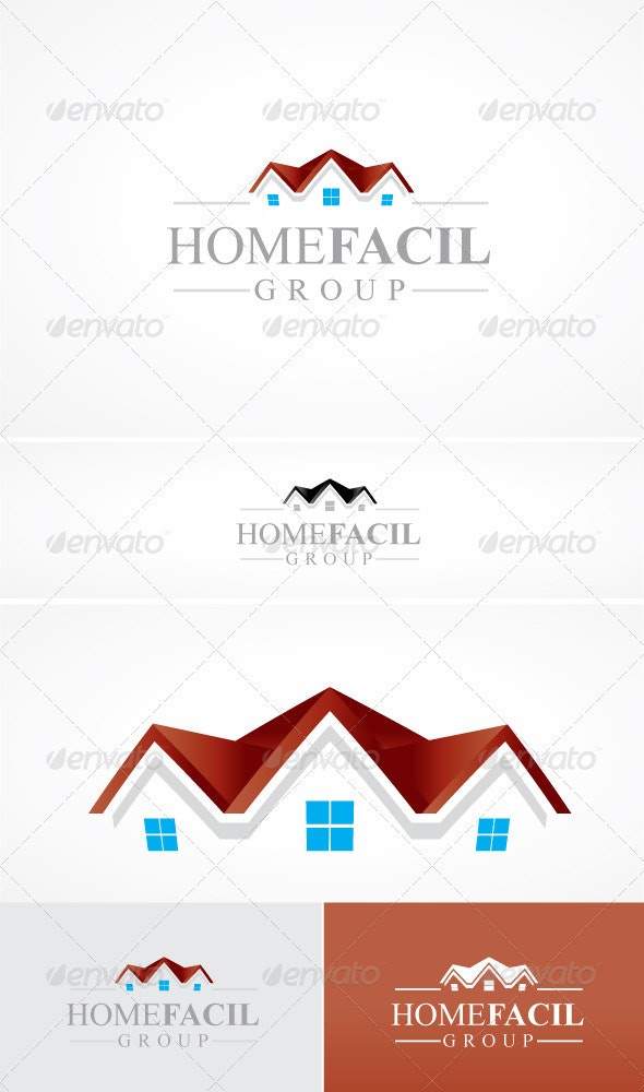Home Facil - Buildings Logo Templates
