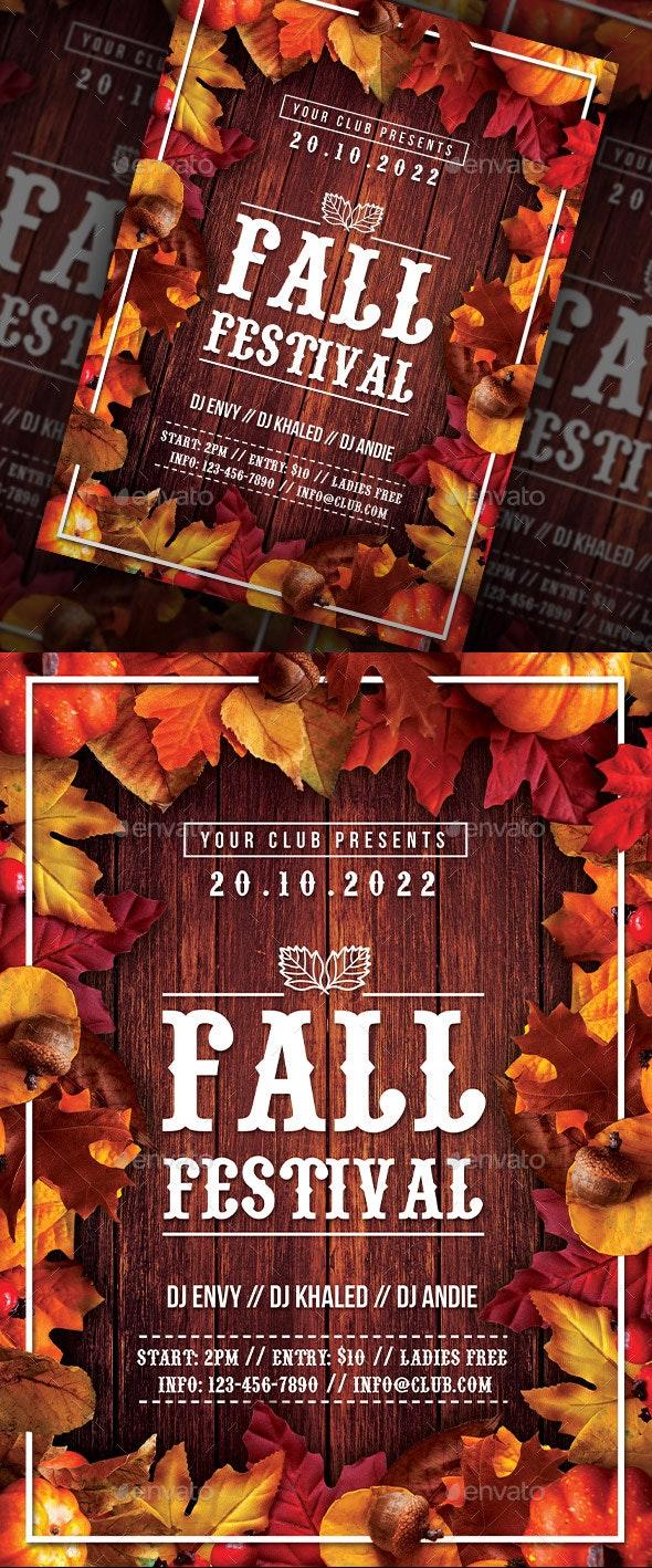 Autumn Fall Festival Flyer - Holidays Events