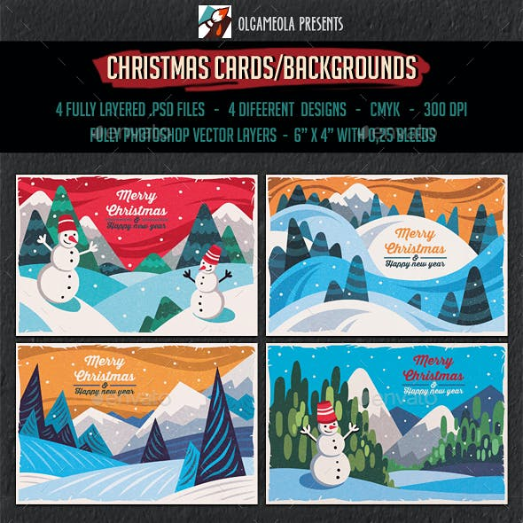 Christmas Greeting Cards/Backgrounds