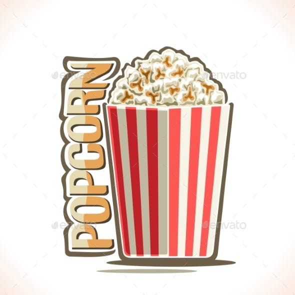 Vector Poster for Popcorn