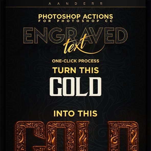 Premium Engraved Text Photoshop Actions