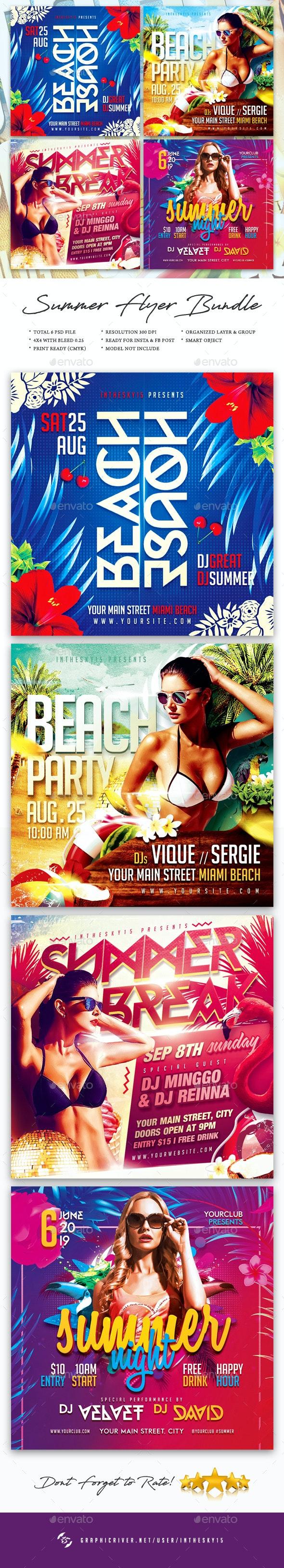Summer Flyer Bundle - Holidays Events