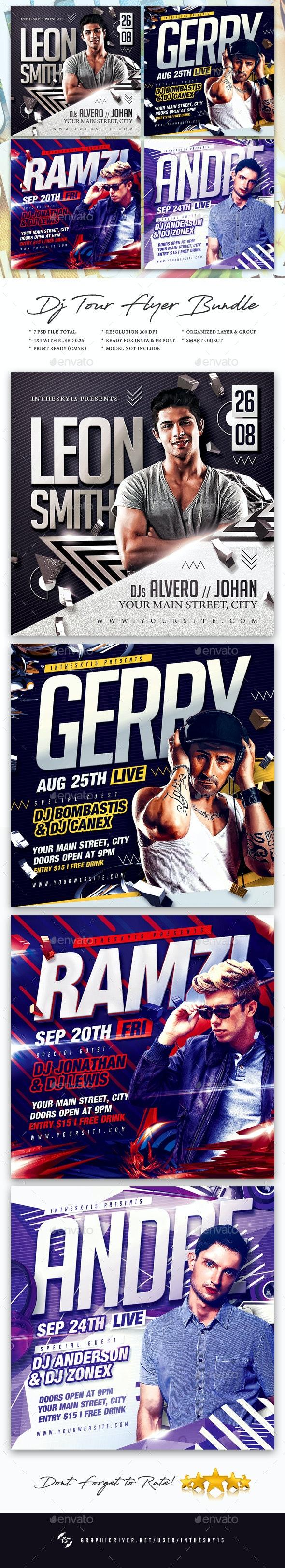 DJ Tour Flyer Bundle - Clubs & Parties Events