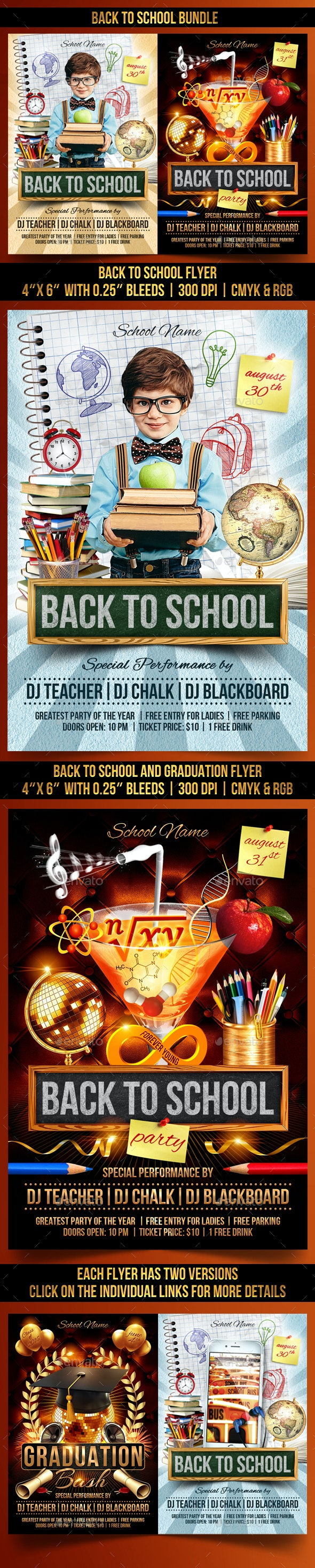 Back to School Bundle - Clubs & Parties Events