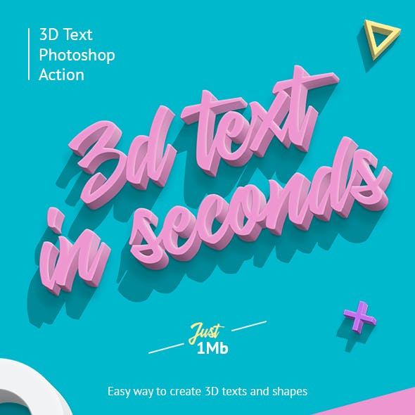 3D Text Effect Graphics, Designs & Templates from GraphicRiver