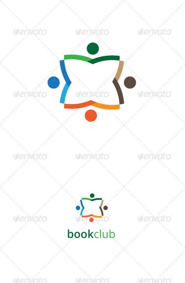 Book Club Logo Template - Vector Abstract