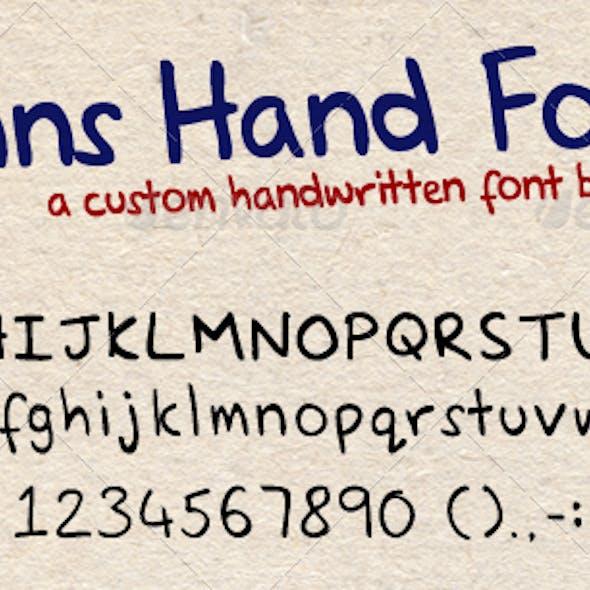 Hand Written Font - Glenns Hand