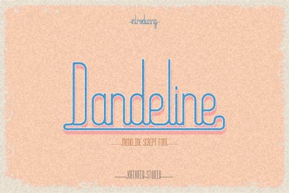 Dandeline - Script Fonts