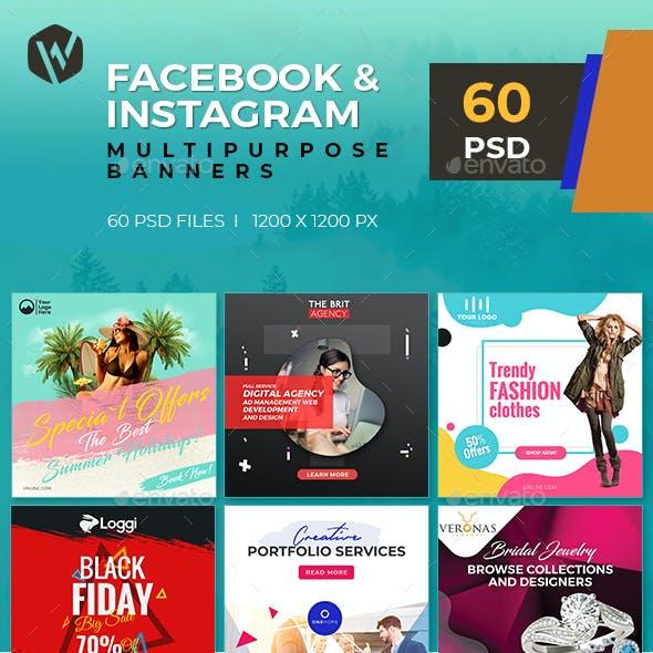 60 - Facebook & Instagram Banners