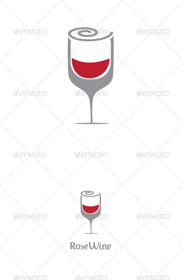 Rose Wine Logo Template - Logo Templates