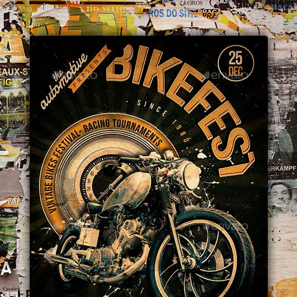 Motorcycle Flyer Poster
