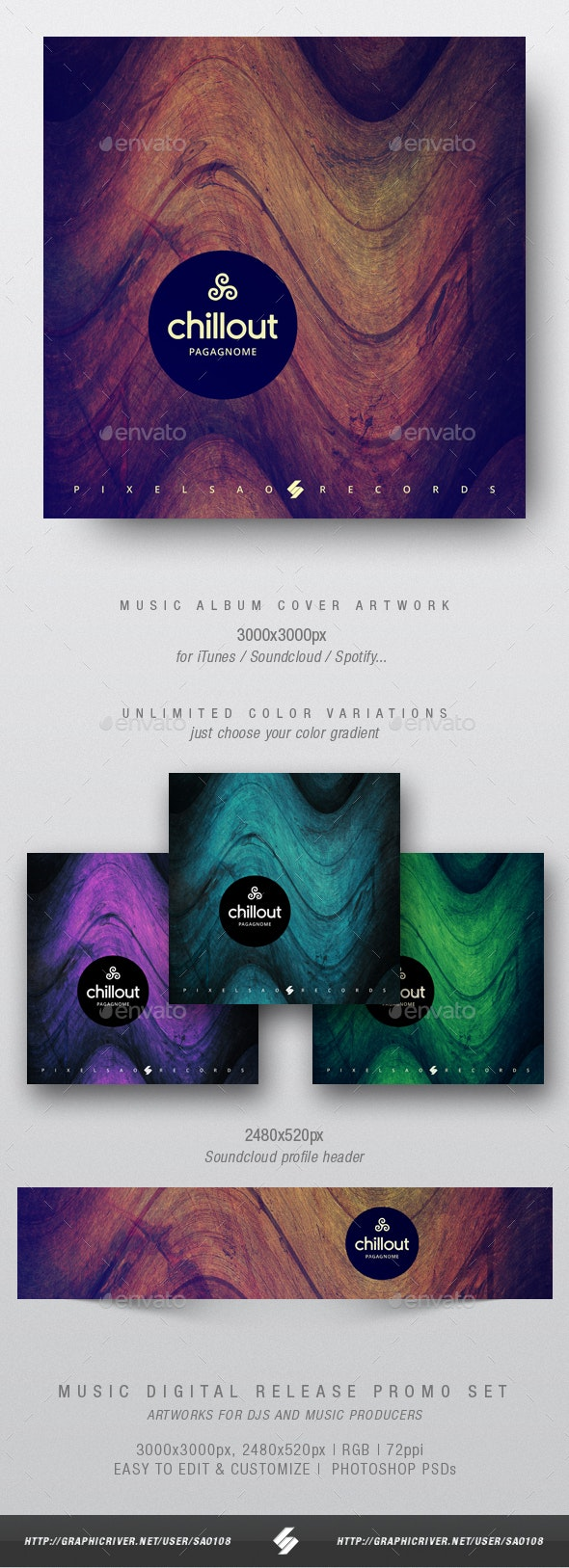 Chillout vol.2 - Music Album Cover Artwork Template - Miscellaneous Social Media