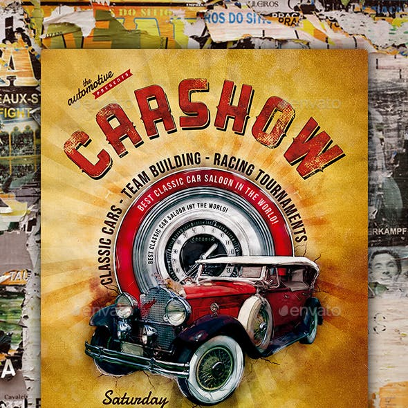 Classic Car Show Flyer Poster