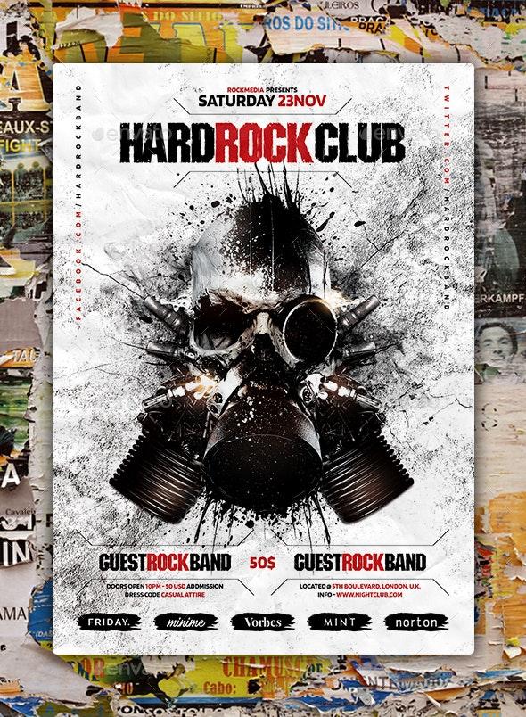 Hard Rock Flyer Poster - Concerts Events