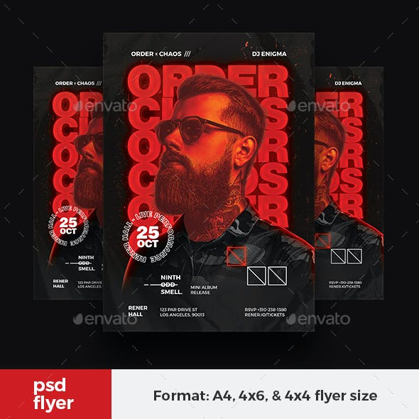 Hip Hop Artist Flyer