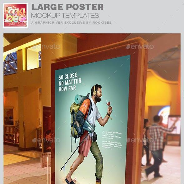 Large Poster Mockup Templates